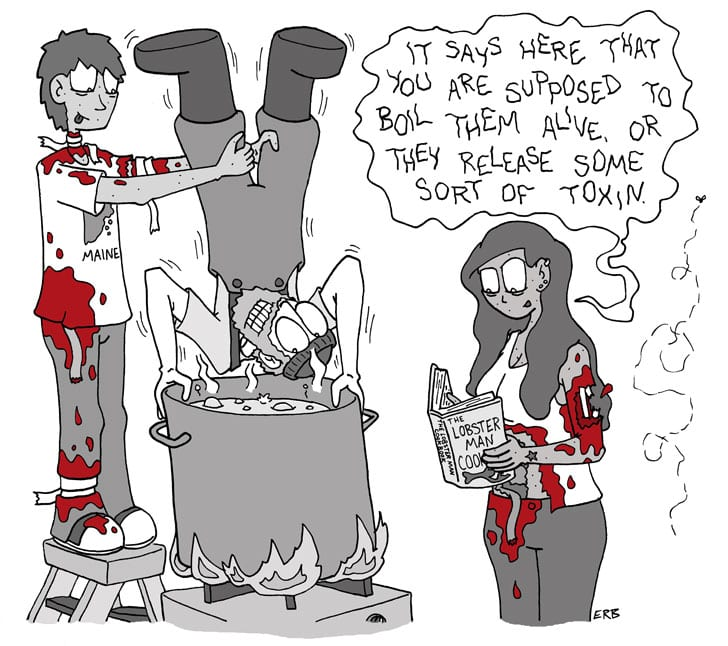 """First rule is…like """"Commute of the Living Dead"""" on Facebook at: http://www.facebook.com/CommuteOfTheLivingDead Second rule is…pick up """"Commute of the Living Dead: Volume 3″ and other zombie comics on ETSY at: https://www.etsy.com/shop/skasundheit .  Third rule is…check out MeCAF on May 17th in Portland ME (http://www.mainecomicsfestival.com/)...Plus anyone who stops by my table and says the super-secret password """"I want to bite into a big hunk of cheese, just bite into it like it's an apple"""" gets a free comic book!  ...and Fourth rule is…eat kosher (vegan) salami."""