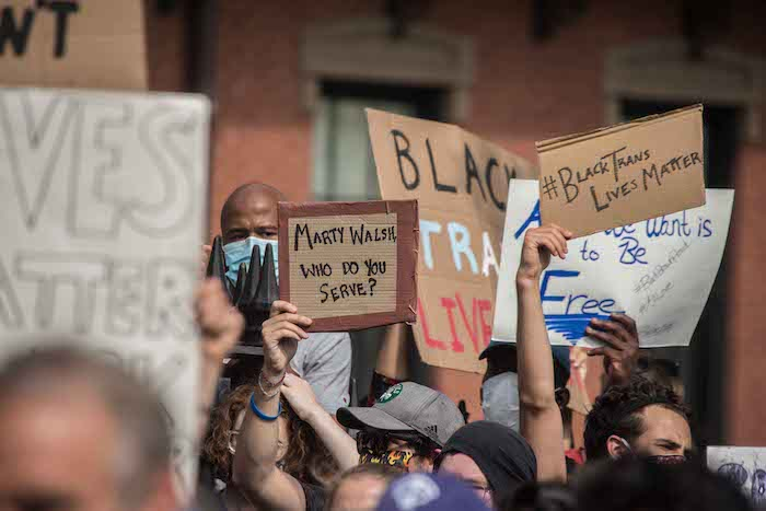 Black Lives Matter protest George Floyd Boston